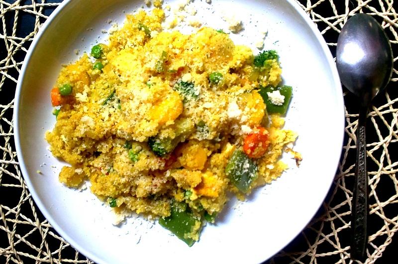 Kuskus se zeleninou a opečeným tofu