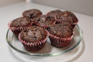 Čokoládovo-ovocné muffiny