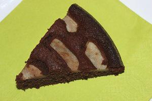 Čokoládový koláč s ovocem