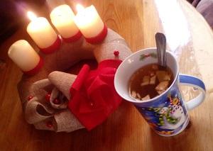 Vánoční pečený čaj s pomerančem
