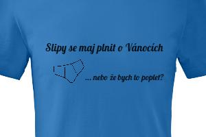 Vtipný, ale praktický dárek k Vánocům v podobě trička s vlastním potiskem