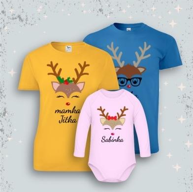 Vánoční trička pro rodinu = úžasný, originální dárek k Vánocům